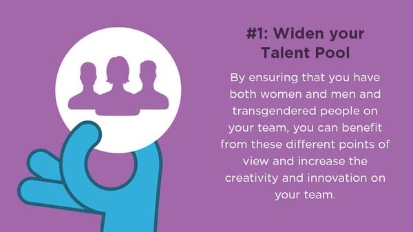 Gender Driversity talent pool
