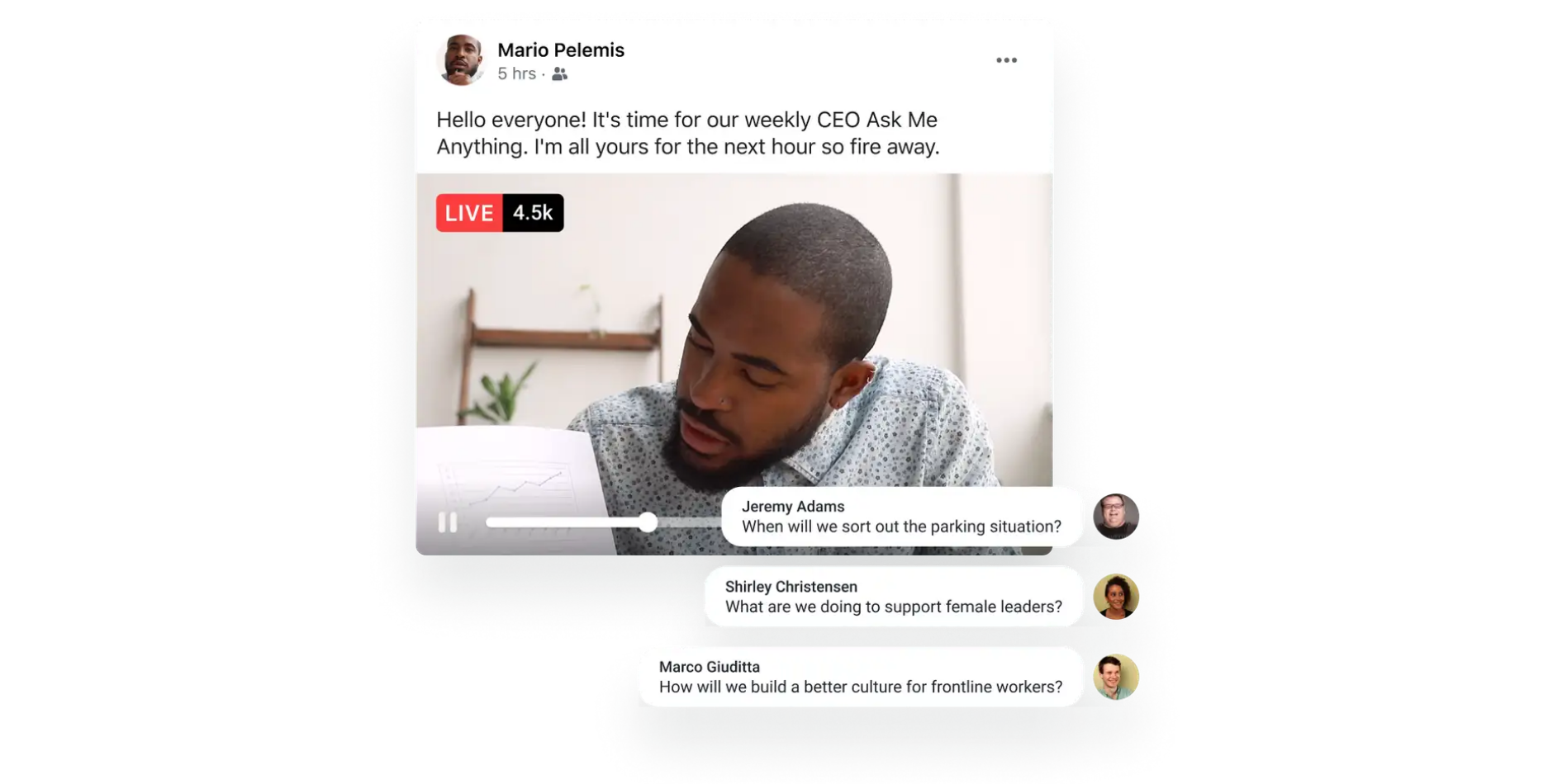 Workplace from Facebook Live