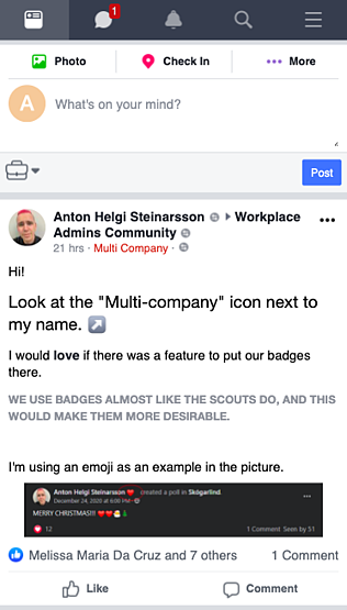 workplace from facebook mobile first
