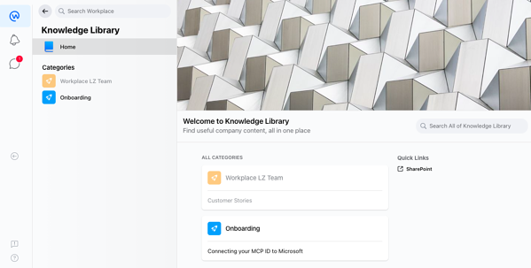 Workplace knowledge library