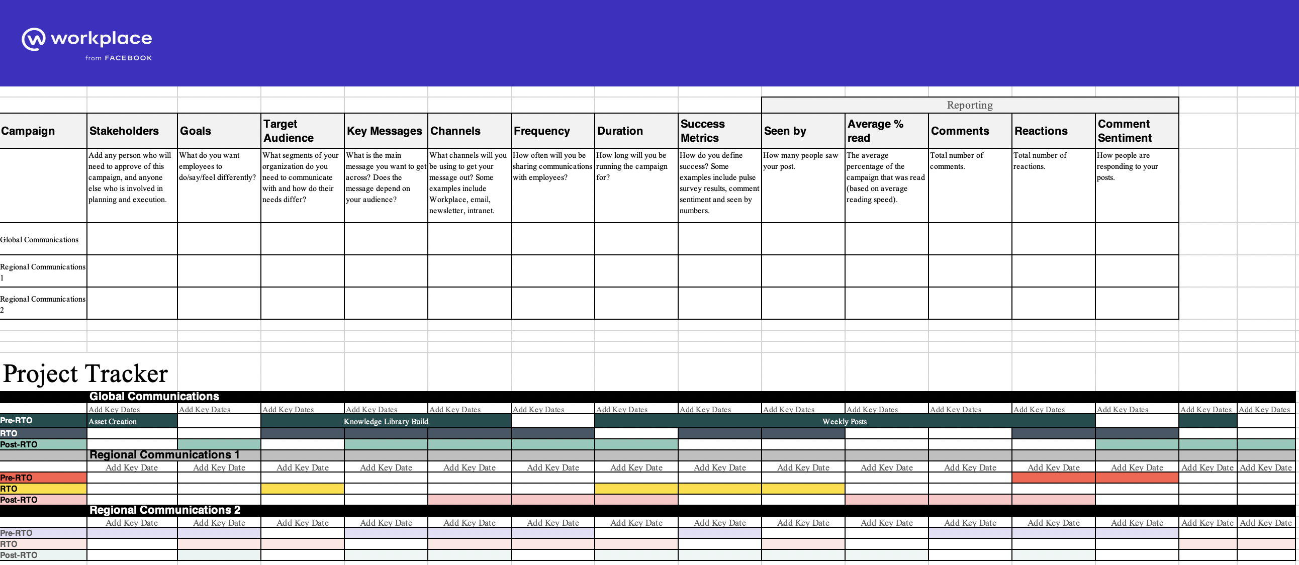 workplace from facebook project tracker