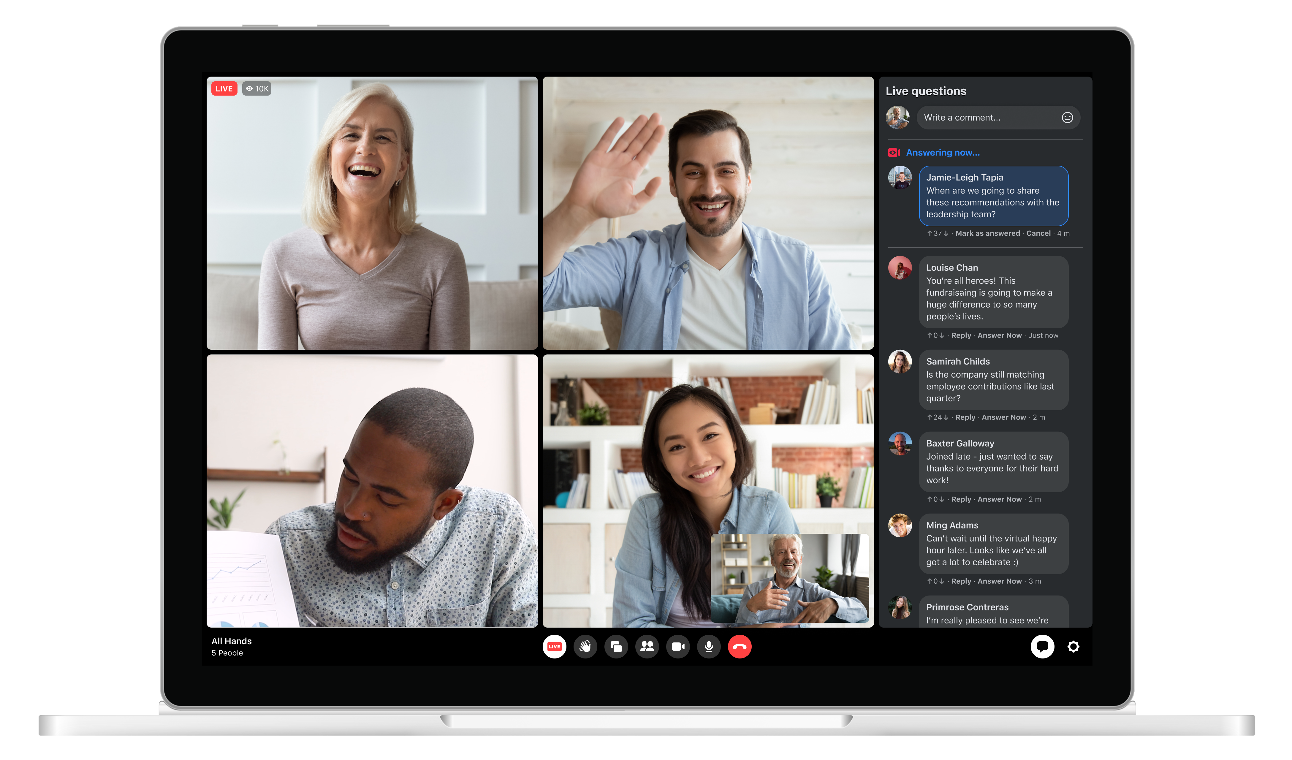 workplace live - Workplace from facebook features