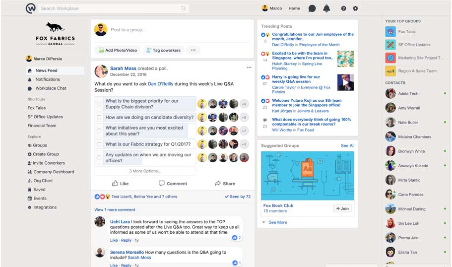 How to Use Workplace: News Feed Navigation